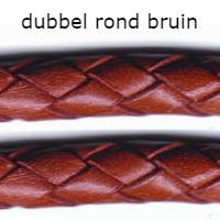 dubbel rond bruin