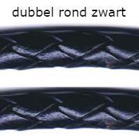 dubbel rond zwart