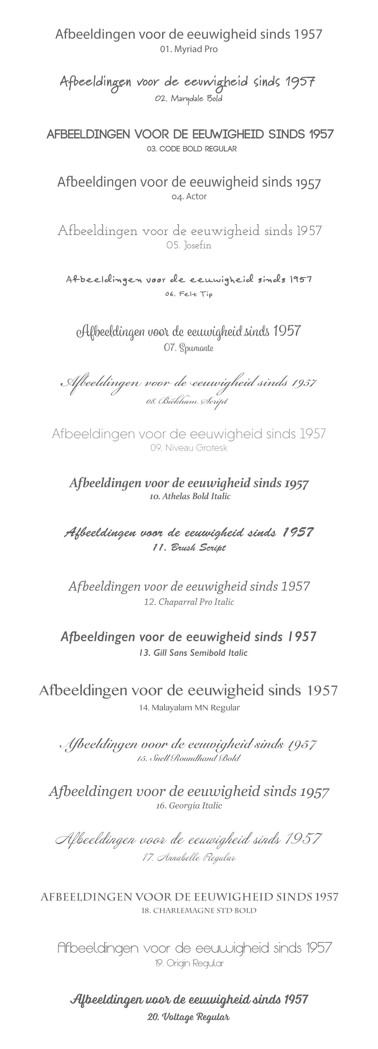 lettertypes voor fotokeramiek