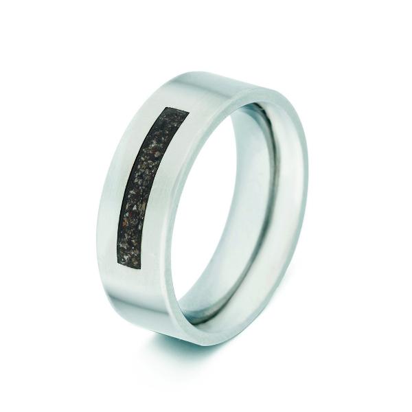 Seeyou Heren Ring In Zilver 7mm Breed Met Ruime Askamer Voor 199