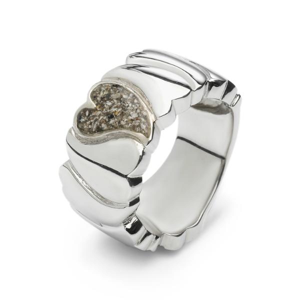 Seeyou Ring In Zilver 11mm Breed Met Hart Askamer Vanaf 149