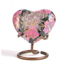 Cloisonne Hart mini urn Elite Floral Blush